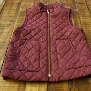 Quilted vest with zipper